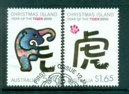 Christmas Is 2010 New Year Of The Tiger FU Lot72243 - Christmas Island