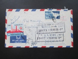 Syrien / UAR 1959 Luftpost / Air Mail Registered Letter! The British Bank Of The Middle East Aleppo (U.A.R.) - Syria