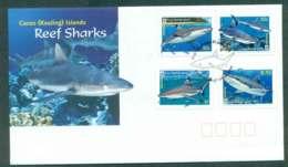 Cocos Keeling Is 2005 Reef Sharks FDC Lot50534 - Cocos (Keeling) Islands