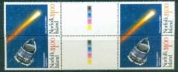 Norfolk Is 1986 Halley's Comet Gutter Pr MUH Lot80605 - Norfolk Island