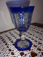 Verre Bleu En Cristal - Vidrio & Cristal