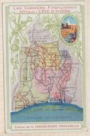 8AK3043 LES COLONIES FRANCAISES - Afrique : COTE-D'IVOIRE - Chocolaterie D'Aiguebelle   2 SCANS - Géographie