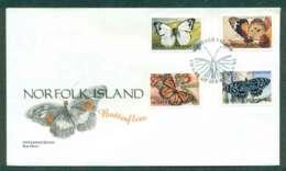 Norfolk Is 1997 Butterflies FDC Lot51591 - Norfolk Island