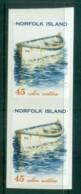 Norfolk Is 2001 45c Boats P&S Pr MUH Lot80560 - Norfolk Island