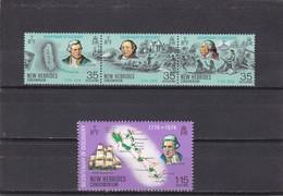 Nueva Hebrides Nº 398 Al 401 - Leyenda Inglesa