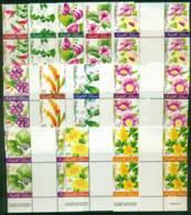 Norfolk Is 2002 Phillip Is Flowers Gutter Blocks MUH (lot21714) - Norfolk Island