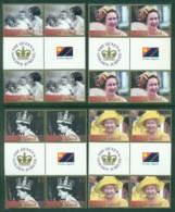 Norfolk Is 2002 QEII 50th Anniversary Gutter Blk 4 MUH (lot21726) - Norfolk Island