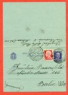 INTERI POSTALI I-BIGLIETTI POSTALI -B32-DA MILANO PER BERLINO - ESTERO - Interi Postali