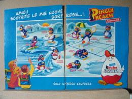MONDOSORPRESA, PUBBLICITA' (PB03) KINDER FERRERO, PINGUI BEACH - Kinder & Diddl