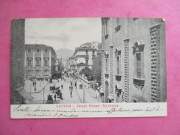 CPA ITALIE CATANIA STRADA ATENEA STESICOREA - Catania