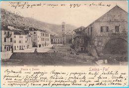 HVAR ( Lesina - Far ) ... Piazza E Duomo ( Croatia ) * Travelled 1901.* Island Hvar Croazia Kroatien Croatie - Croatia
