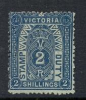 Victoria 1879-96 Stamp Duty 2/- Perf 12 Unused, No Gum - 1850-1912 Victoria