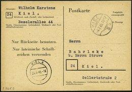 ALL. BES. AUFBRAUCHAUSGABEN P 768II BRIEF, 1945, 6 Pfe. Schwarz Auf Hellsämisch, Type II, Pracht, Mi. 100.- - Amerikaanse, Britse-en Russische Zone