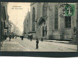 CPA - GUINGAMP - Rue Notre Dame, Animé - Guingamp