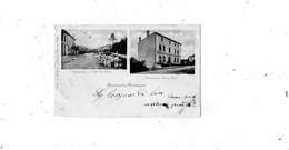MONTOIS-LA-MONTAGNE DOUBLE VUES RUE PRINCIPALE + RESTAURATION GEORG BAYER (CARTE PRECURSEUR ) - Otros Municipios