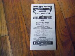 Allemagne Document Publicitaire Horaires Croisiere ? 1936 - 1900 – 1949