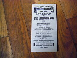 Allemagne Document Publicitaire Horaires Croisiere ? 1936 - Germany