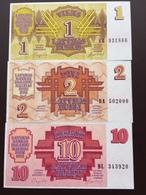 LATVIA P35.36.38 1.2.10 RUBLIS 1992 UNC - Lettonie