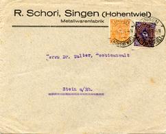 (Lo2582) Brief DR St. Singen N. Stein - Germania