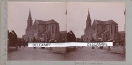LA ROCHE BERNARD 1898 - Photo Stéréo Originale Du Marché  ( Morbihan ) - Lieux