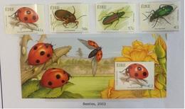 Irlande N° 1499 à 1503 + BF 49 Neufs Sans Charnière 2003 Insecte Bloc - 1949-... Republic Of Ireland