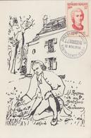 Carte  Maximum  1er  Jour    FRANCE    Jean Jacques   ROUSSEAU     MONTMORENCY   1956 - Cartas Máxima