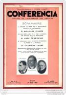 CONFERENCIA  1935 N° 16 Du 1 Aout  Journal Université Annales * Niccolo Machiavel - Inde - Priere - Léonard De Vinci - Periódicos