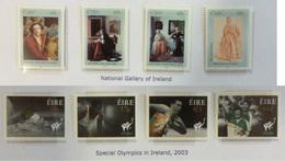 Irlande N° 1532 à 1535 + 1507 à 1510 Neufs Sans Charnière 2003 Sport - 1949-... Republic Of Ireland