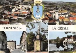 CPSM 42 SOUVENIR DE LA GRESLE MULTI VUES   Grand Format 15 X 10,5 Cm - France