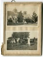 2 Photos Sous Verre ST SAINT LUNAIRE Vache Pré 35 35800 BRETAGNE 30s Ille Et Vilaine - Orte