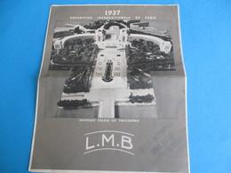 Grd Catalogue-dépliant à 4 Volets/ Pipes LMB Brevetées/Objets De Fumeur/Exposition Internationale De Paris/1937   CAT244 - France