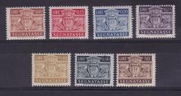 1945 San Marino Saint Marin SEGNATASSE STEMMA 7 Valori: 10/15/20/25/40/50c + 50L MNH** - Segnatasse