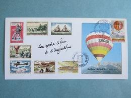 """Carte Maximum Ballon """"Roger"""" Pilote Roger Fugier - Saint Julien Le Faucon Calvados 1990 - Montgolfière - La Poste - Cartes-Maximum"""