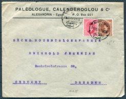 1925 Egypt Alexandria Cover - Dresden Germany - Egypt