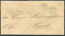 1874 Sweden Fribref Skofde - Sweden