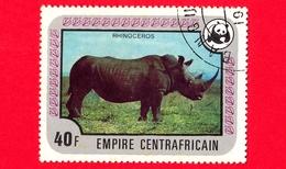 REPUBBLICA CENTROAFRICANA - Usato - 1978 - Specie In Via Di Estinzione - WWF - Rinoceronti - Rhinoceros - 40 - Repubblica Centroafricana