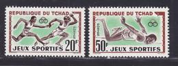 TCHAD N°   80 & 81 ** MNH Neufs Sans Charnière, TB  (D7660) Jeux Sportifs Africains - 1962 - Chad (1960-...)