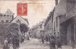 CPA 12 @ MONTBAZENS @ Grande Rue Animée En 1908 - Montbazens