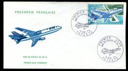 Polynésie - FDC -  Avion - 1973 - FDC