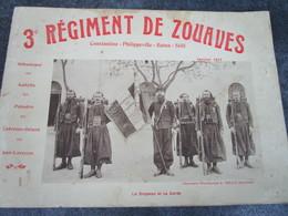 3è REGIMENT DE ZOUAVE - Constantine-Philippeville-Batna-Sétif - Janvier 1911 (24 Pages) - Documents