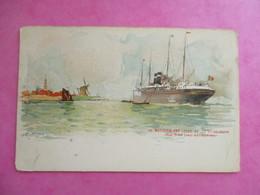 CPA ILLUSTREE PAQUEBOT S.S WESTERNLAND  RED STAR LINE ANTWERPEN BELGIQUE - Dampfer