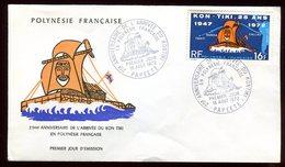 Polynésie - FDC -  Kon Tiki - 1972 - FDC