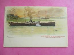 CPA ILLUSTREE PAQUEBOT S.S KENSINGTON  RED STAR LINE ANTWERPEN BELGIQUE - Dampfer