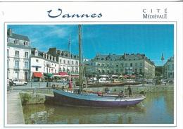 56 - Vannes - Cité Médiévale - Le Port - 1 Timbre Philatélique Au Verso, Voir Scan - Cpm - écrite - - Vannes