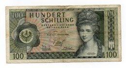 Austria - 1969 - Banconota Da 100 Scellini - Usata -  (FDC12153) - Oesterreich