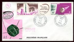 Polynésie - FDC -  Satellite Triptyque - 1966 - FDC