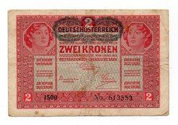Austria - 1917 - Banconota Da 2 Corone - Usata -  (FDC12154) - Austria
