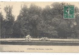 LUNEVILLE . LES BOSQUETS . LE JET D'EAU . CARTE AFFR SUR RECTO - Luneville