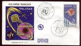 Polynésie - FDC -  Télécommunications - 1965 - FDC