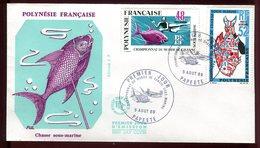 Polynésie - FDC -  Chasse Sous Marine - 1969 - FDC